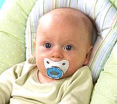 Измерение оральной температуры у младенцев можно производить, используя термометр-пустышку