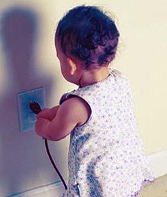 Ожоги детей электротоком