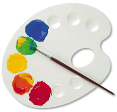 Палитра для смешивания красок